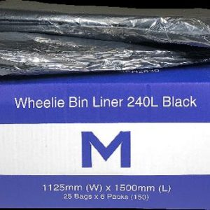 240 Litre Large Black Rubbish Bags